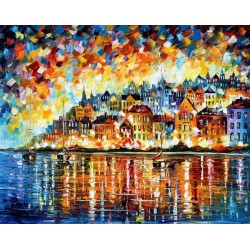 A Night at the Bay-Wall-Art-Home-Decor-oil-painting