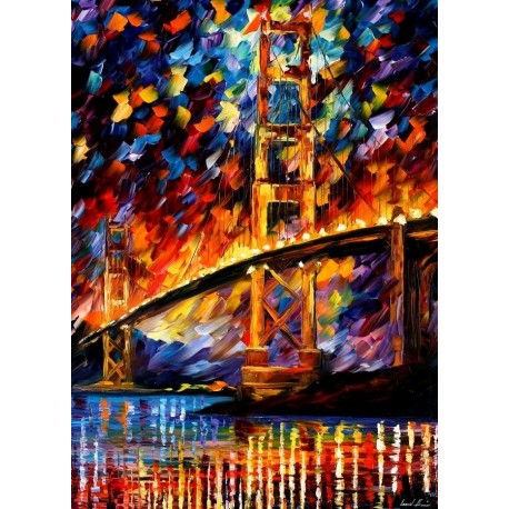 Brooklyn Bridge Home Decor Abstract Oil Painting