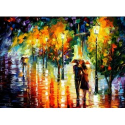 Romantic Walk II Home Decor Abstract Oil Painting