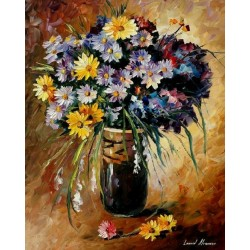 Still Life Flowers Home Decor Abstract Oil Painting