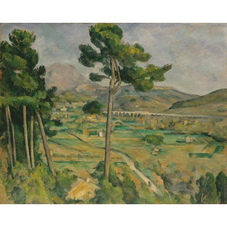 Moun Sainte Victire from Bellevue by Paul Cezanne