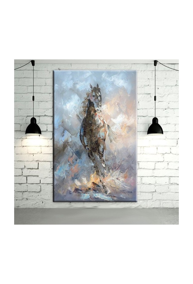 Wall Art And Decor For Living Room: Horse Abstract Wall Art