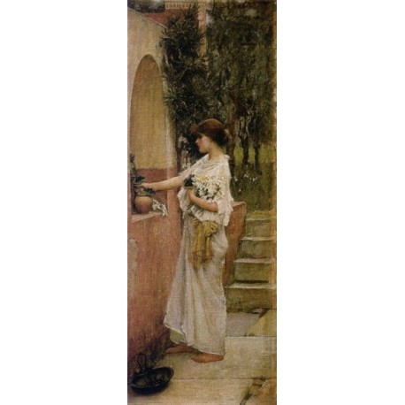 A Roman Offering 1890 by John William Waterhouse - Art gallery oil painting reproductions