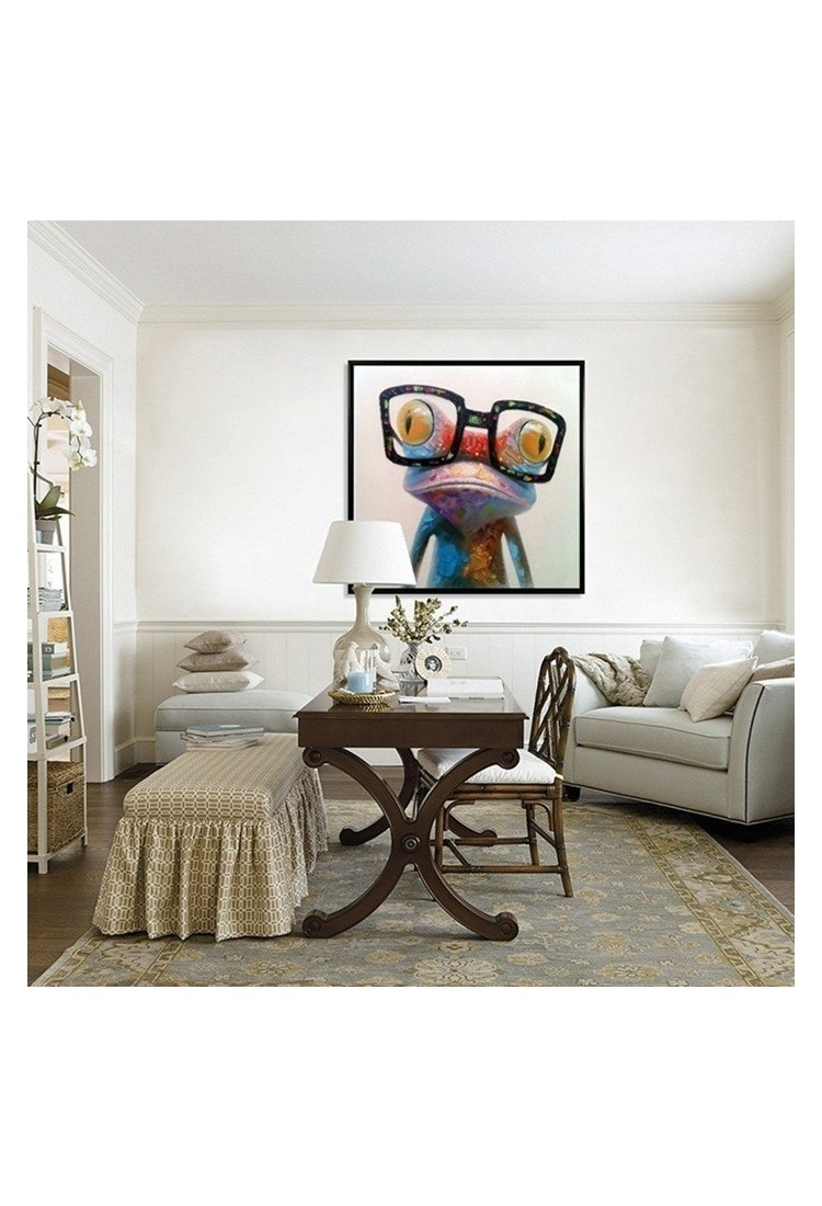 Happy Frog Abstract Modern Home Decor Wall Art Oil Painting