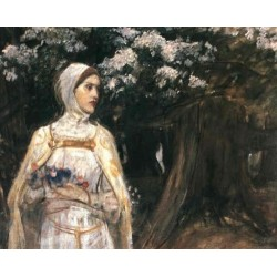 Beatrice 1915 by John William Waterhouse-Art gallery oil painting reproductions
