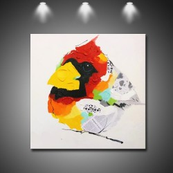 Baby Bird- Handmade Abstract Art Modern Oil Painting