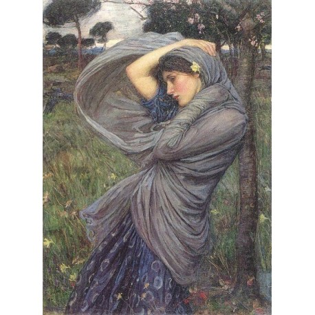 Boreas 1903 by John William Waterhouse-Art gallery oil painting reproductions