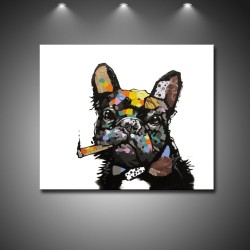 Cool Dog - Hand-Painted Modern Home decor wall art Painting