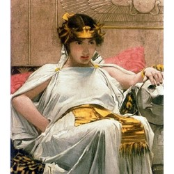 Cleopatra 1888 by John William Waterhouse-Art gallery oil painting reproductions
