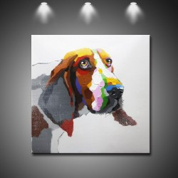 Cute Dog - Hand-Painted Modern Home decor Wall Art oil Painting