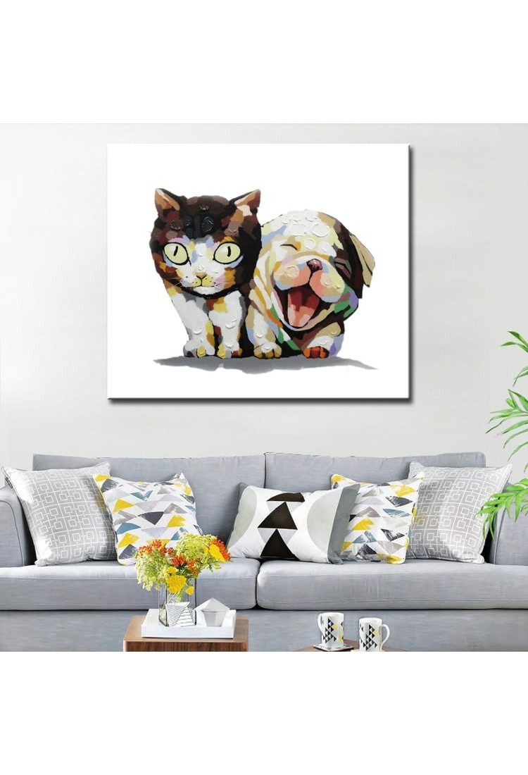 Cutest Modern Nail Arts Images To Create In 2019: Handmade Animal Canvas Art Modern Oil Painting
