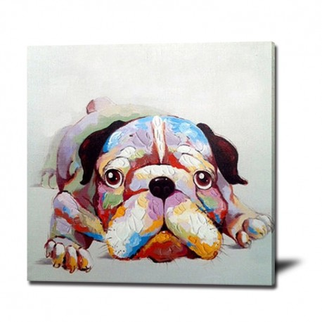 Resting Dog - Handmade Animal Wall Art Modern Oil Painting
