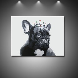 The King- Handmade Animal Canvas Art Modern Oil Painting