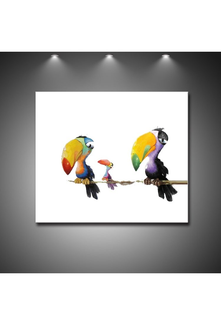 Toucan Birds Hand Painted Modern Home Decor Wall Art Oil Painting