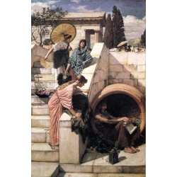Diogenes 1882 by John William Waterhouse-Art gallery oil painting reproductions