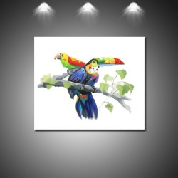 Toucans - Hand-Painted Modern Home decor Wall Art oil Painting-2-min