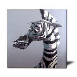 Zebra - Hand-Painted Animal Wall Art Modern Oil Painting