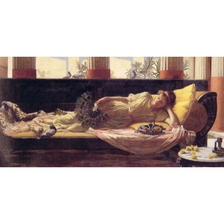 Dolce far Niente 1880 by John William Waterhouse-Art gallery oil painting reproductions
