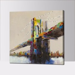 Abstract Bridge - Hand-Painted Modern Home decor wall art oil Painting