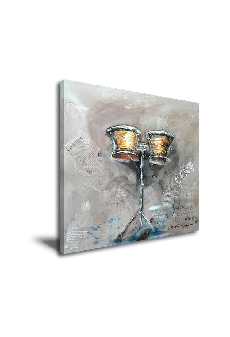 Ancient Drum Hand Painted Music Home Decor Wall Art Canvas Painting