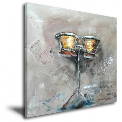 Ancient Drum - Hand-Painted Music Home decor wall art canvas Painting
