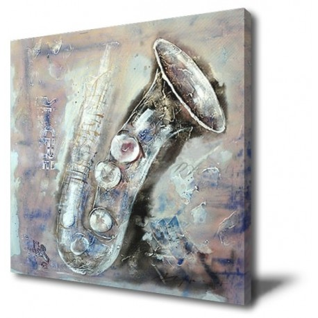 Saxophone - Hand-Painted Musical Home decor wall art oil Painting