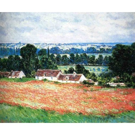 Field of Poppies Giverny by Claude Oscar Monet - Art gallery oil painting reproductions