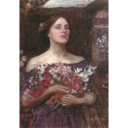Gather Ye Rosebuds, Ophelia 1908 by John William Waterhouse-Art gallery oil painting reproductions