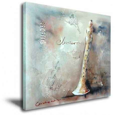 Suona Horn - Hand-Painted Musical Home decor wall art canvas Painting
