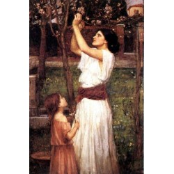 Gathering Almond Blossoms 1916 by John William Waterhouse-Art gallery oil painting reproductions