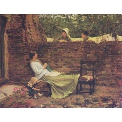 Good Neighbours 1885 by John William Waterhouse-Art gallery oil painting reproductions