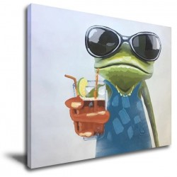 Cool Frog - Hand-Painted Modern Home decor wall art oil Painting