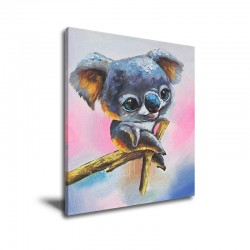 Cute Little Sloth - Hand-Painted Modern Home decor wall art oil Painting