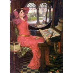 I am Half Sick of Shadows Said The Lady of Shalott 1916 by John William Waterhouse-Art gallery oil painting reproductions