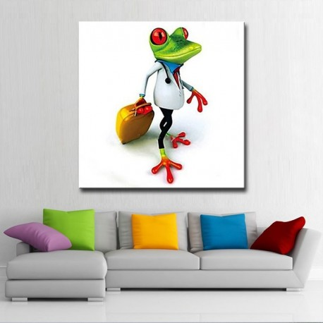 Dr Frog Hand Painted Modern Home Decor Wall Art Oil Painting