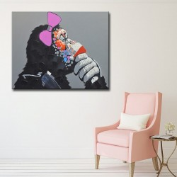 Ms Gorilla - Hand-Painted Modern Home decor wall art oil Painting