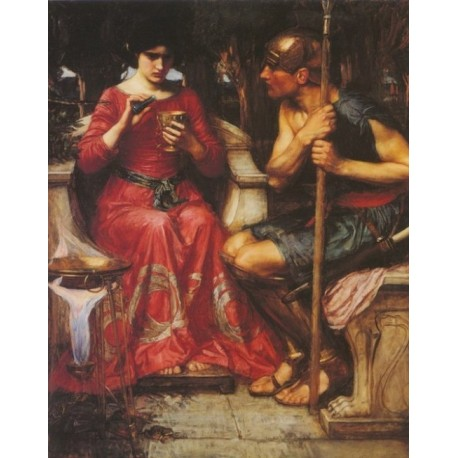 Jason and Medea 1907 by John William Waterhouse -Art gallery oil painting reproductions