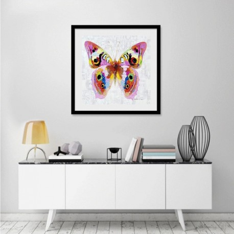 Colorful Butterfly - Hand-Painted Modern Home decor wall art oil Painting