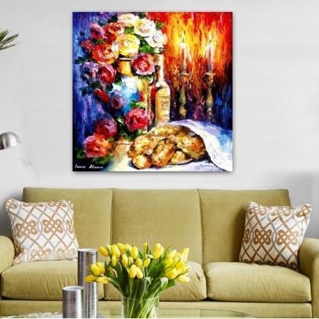 Shabbat Table - Jewish Art