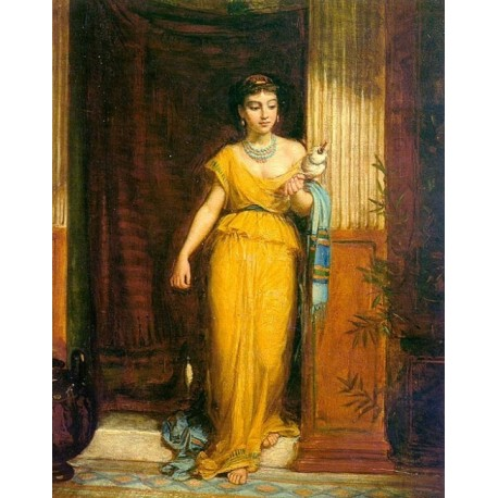 La Fileuse 1874 by John William Waterhouse-Art gallery oil painting reproductions