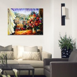 flowers of jerusalem Abstract - Jewish Art Oil Painting Wall Decor