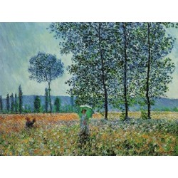 Sunlight Under the Poplars by Claude Oscar Monet - Art gallery oil painting reproductions