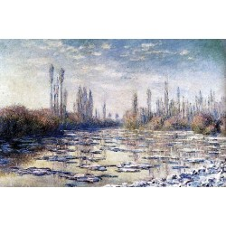 Floating Ice Near Vetheui by Claude Oscar Monet - Art gallery oil painting reproductions