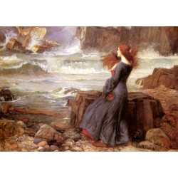 Miranda The Tempest 1916 by John William Waterhouse-Art gallery oil painting reproductions