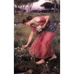 Narcissus 1912 by John William Waterhouse-Art gallery oil painting reproductions