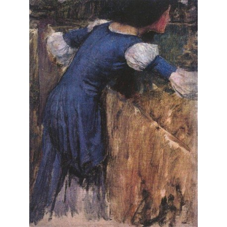 Picking Flowers, Study 1900 by John William Waterhouse-Art gallery oil painting reproductions