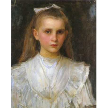 Portrait of a Young Girl by John William Waterhouse-Art gallery oil painting reproductions
