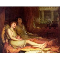 Sleep and His Half Brother Death 1874 by John William Waterhouse-Art gallery oil painting reproductions