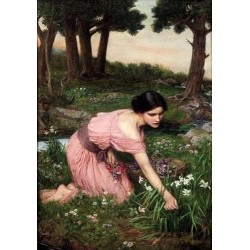 Spring Spreads One Green Lap of Flowes 1910 by John William Waterhouse-Art gallery oil painting reproductions