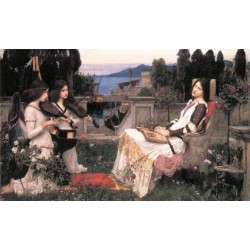 St. Cecilia 1895 by John William Waterhouse-Art gallery oil painting reproductions